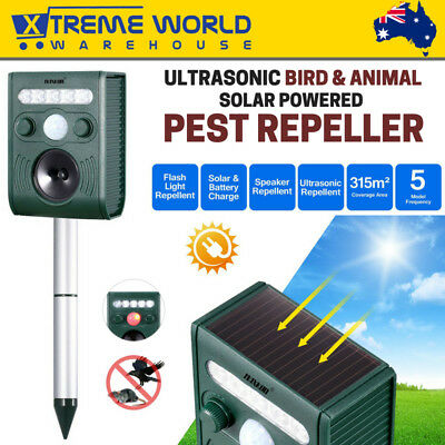 Ultrasonic Bird and Animal Repeller with Large Solar Power Plate Pest Repellent