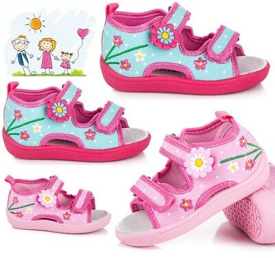 AMERICAN CLUB Girls Kids TODDLER Canvas shoes sandals 4-8 UK Real Leather insole