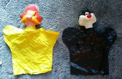 SYLVESTER The Cat & Yosemite Sam Hand Puppet-Warner Brothers-Seven Japan