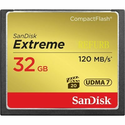 SanDisk Memory CF 32GB Card 120MB/S 800X UDMA7 Extreme SDCFXS-032G CompactFlash