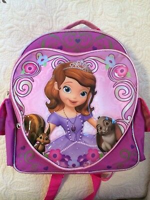 """Disney Sofia The First backpack - Princess pink 12"""" - EXC COND - CLEAN"""