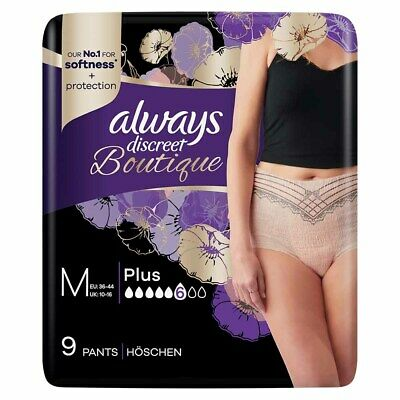 Always Discreet Boutique - Incontinence Pants - Peach - Medium - Pack of 9