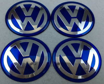 4 PCS65mm Wheel Center Hub Caps Cover Badge Emblem For Volkswagen VW