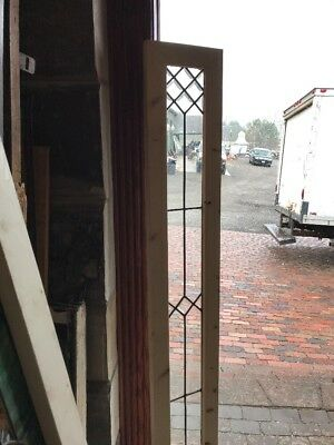 Sg 2263 Antique Beveled And Flat Glass Transom Window 11 3/8 X 71.75