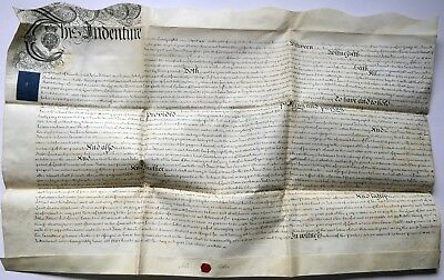 1759 Vellum Deed Mortgage Of 5 Acres Iddins To Jane Orton For £200 + 4% Interest
