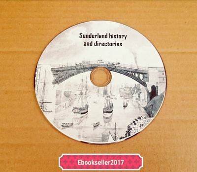 Sunderland ebooks, history & directories, genealogy rare in pdf formats on disc