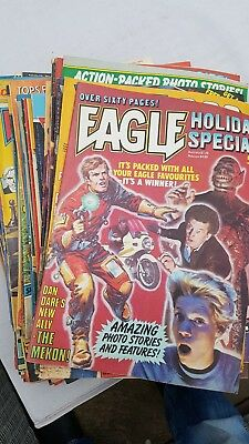 the new eagle comic 1982-1983 80 issues! job lot- issue 3 onwards