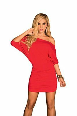 (TG. L)  AM PM In Espiral Red Dress Colore Taglia L