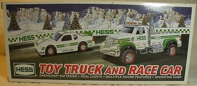 2011 Hess Toy Truck And Race Car ~ Never Removed From Box Nib~ Adult Collector