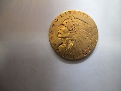 1911  $2.50 Indian Head Gold Head with Eagle on Back