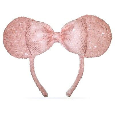 Disney Parks Millennial Pink Minnie Mouse Ear Sequined Headband