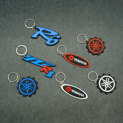 Keychain Rubber Key Ring Motorcycle Racing Cool Collectible For Yamaha YZF R1 R6
