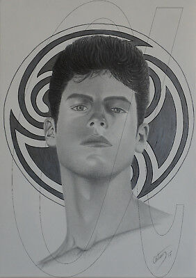 "Original Pencil Drawing Of A Young Man ""the Rise Of The Young King"",  By Antonis"