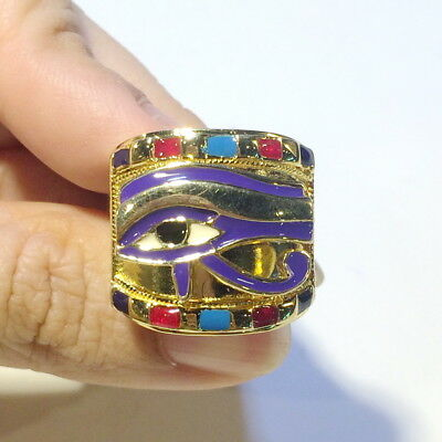 The Royal Horus Eye sterling 925 silver ring new ancient Egyptian Egypt god band
