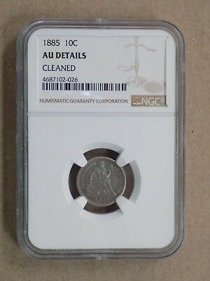 1885 10C Seated Liberty Dime Ngc Au Details