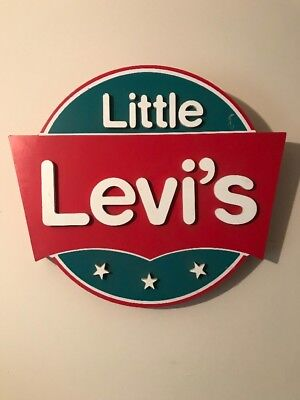 Vintage Rare Little Levi's Jeans Advertising Sign, NO RESERVE! Levi Strauss