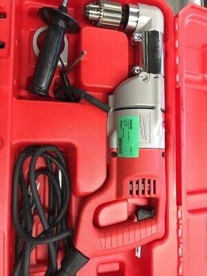 """Milwaukee 1107-1 1/2"""" Right Angle Drill with Case & Handle"""