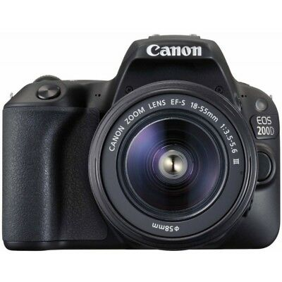 Canon EOS 200D / Rebel SL2 DSLR Camera with 18-55mm III Lens (Black)