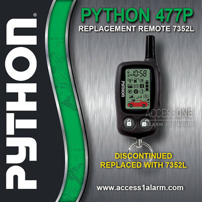 python 477p 2-way lcd replacement remote control transmitter upgrade 7352l