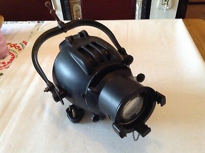 Strand Patt 23 - black vintage retro theatre spotlight (lamp 1 or 2)