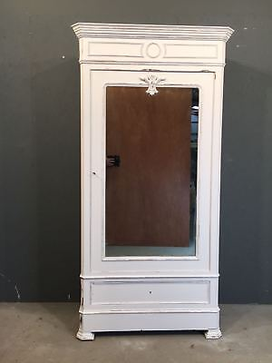 Antique Painted Single Door Armoire / French Armoire (BR613)