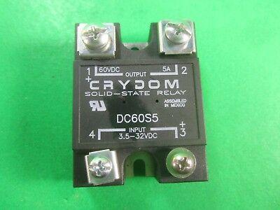 Crydom Solid-State Relay -- DC60S5 -- Used (Lot of 2)