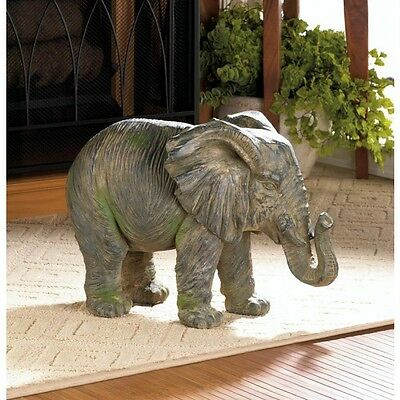 NEW Large ELEPHANT STATUE ACCENT SAFARI ANIMAL INDOOR OUTDOOR DECOR 10017916
