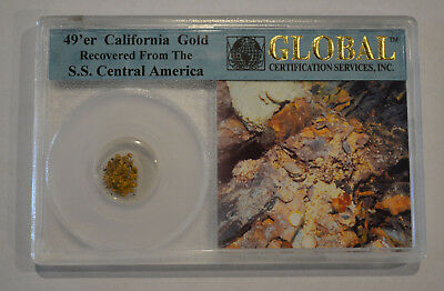 49 er CALIFORNIA GOLD DUST RECOVERED SS CENTRAL AMERICA TREASURE SHIPWRECK