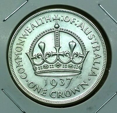 1937 Australia sterling silver Crown - higher grade