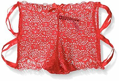 (TG. XLarge) rosso Seven Til Midnight Geo Galloon Lace Boyshort XL, colore: ross