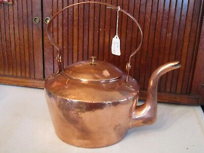 Wonderful 18th Century Dovetailed AMERICAN COPPER TEAKETTLE