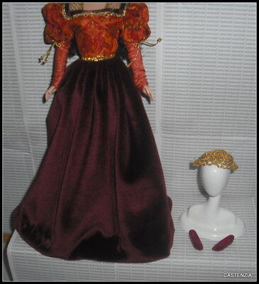 Outfit Barbie Doll Mattel Dotw Princess Of Portuguese Empire Dress Gown Clothing