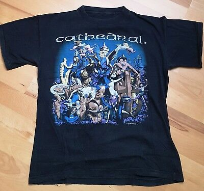 Cathedral Forest Of Equilibrium t-shirt size M from 1992 Doom Metal Earache Rec.