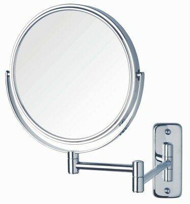 Magnifying Bathroom Mirror 8 In. Dia Swivel Wall Mount Chrome Makeup Shaving New