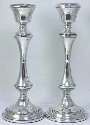 "Pair of Vintage hallmarked Sterling Silver 8"" (20cm) Candlesticks – 1970"