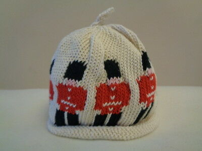 Merry Berries Baby Boys London Guardsmen Cream & Red Beanie Hat 0-24 Months £16