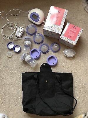 Lansinoh 2 in 1 Electric Double Breast Pump and extras