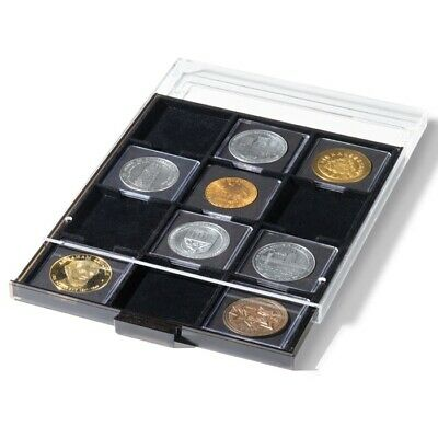 10 Coin Boxes Stackable Display Tray Drawer for 200 2x2 Snaplock Holder Storage