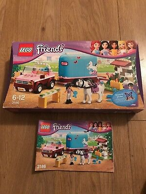 Lego Friends 3186 Original Box And Manual Instructions Only No