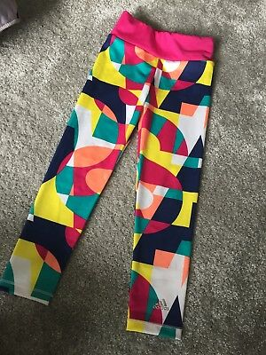 Adidas Girls Leggings Age 5-6 Years . Re-listed due to time waster.