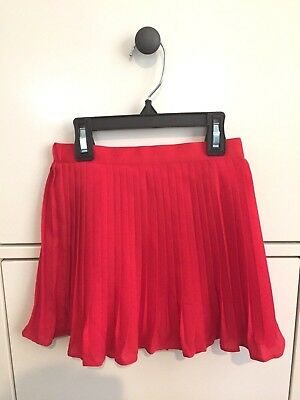 NWT Dressy Janie and Jack Girls Size 3T Red Chiffon Style Skirt