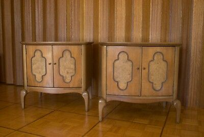 MODERNAGE Mid Century Art Deco Style End Tables Nightstands MCM