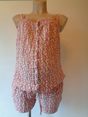 Colline Maternity & Nursing Pink Floral Top Shorts Jumpsuit All In One Size 14