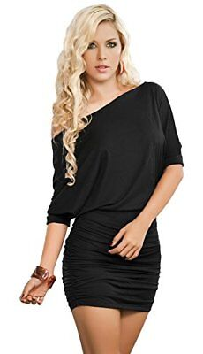 (TG. L)  AM PM In Espiral 4749 Black Dress colore taglia L