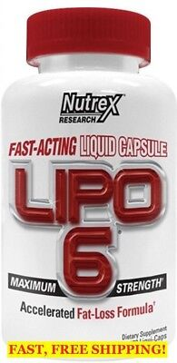 Nutrex LIPO-6 White 60 caps Accelerated Fat Loss Formula - Best by 02/2018