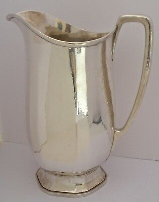 Fine Tiffany Arts Crafts Sterling Special Hand Work Hammered Water Pitcher 1915