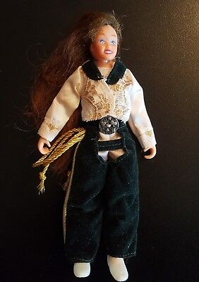 Vintage Cowboy Cowgirl Rider Breyer Horses Doll Figure With Outfit Lasso Nice