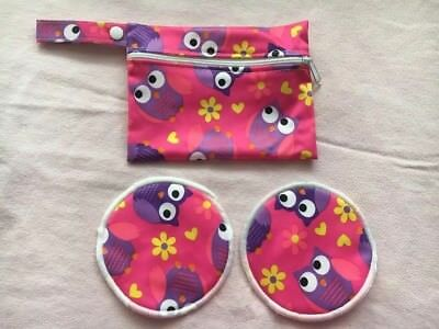 Reusable Breast Pads With Matching Pouch
