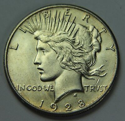 1928-P Peace 90% Silver Dollar Key Date Free Shipping $1 Old US Coin P2R D036