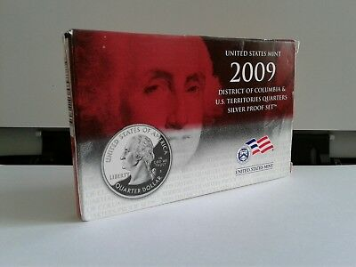 2009-S US Mint Silver DC and Territorial States 6 Quarters Proof Set w/Box COA